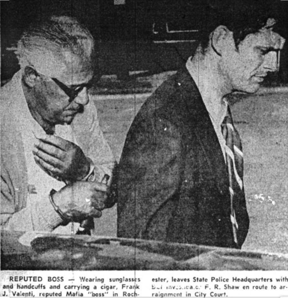 pinched.. Boss Frank Valenti in cuffs!