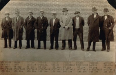 Early police lineups of New England's Italian hoodlums and mafiosi. If you note some of the names, you notice many top future mafiosi among them