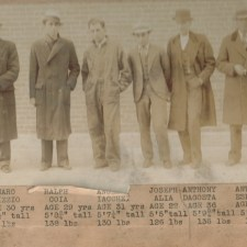 Early police lineups of New England's Italian hoodlums and mafiosi. If you note some of the names, you notice many top future mafiosi among them.