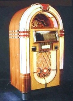 Old-fashioned classic jukebox
