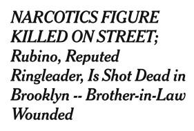 News story of Chris Rubino's Murder
