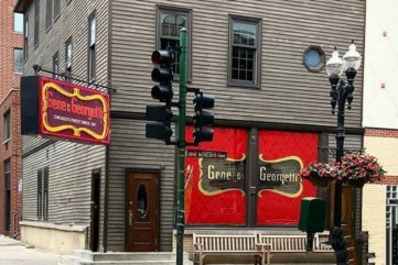"The infamous Gene & Georgetti Restaurant in River North where Frank Sinatra hung out with ""the boys"" in the upstairs mural room."