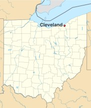 City of Cleveland's position in Ohio