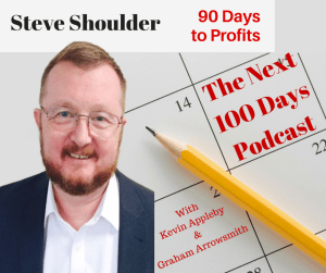 Episode 62 - Steve Shoulder - 90 Days to Profits - top lessons learned from the next 100 days podcast