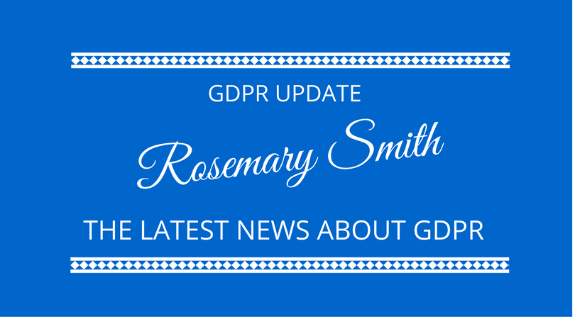 #89 GDPR Update with Rosemary Smith