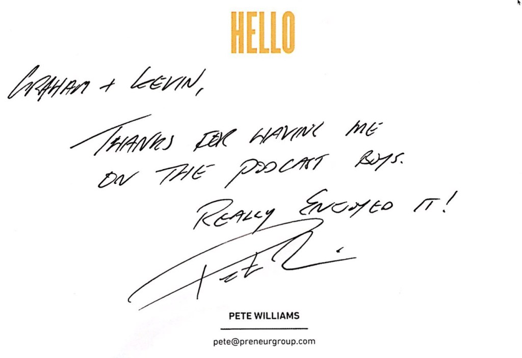 Pete Williams, Cadence Book, 7 Levers, The Next 100 Days Podcast