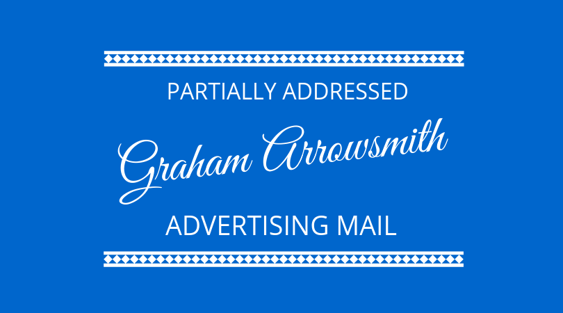 #164 Graham Arrowsmith – Partially Addressed Advertising Mail