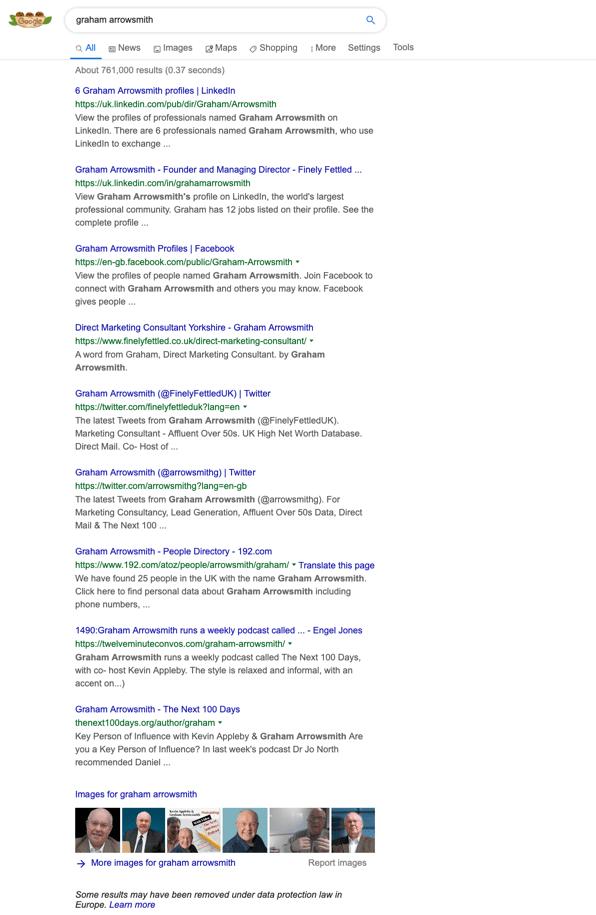 "Google ""Graham Arrowsmith"""
