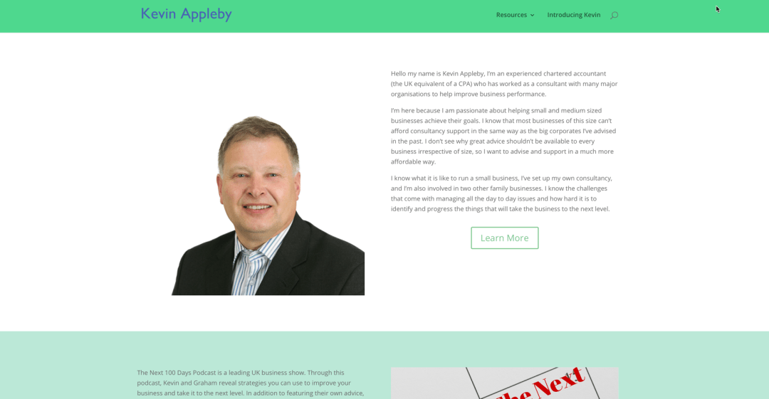 Kevin Appleby Personal Brand Website