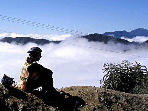 Above La Paz and above the clouds