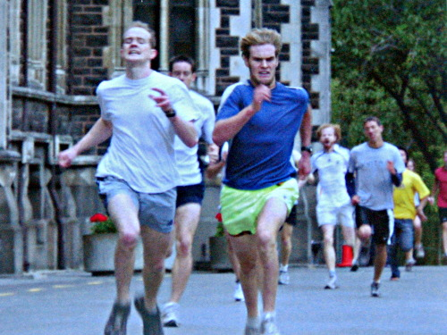 The battle of third place, University of Otago Clocktower Race