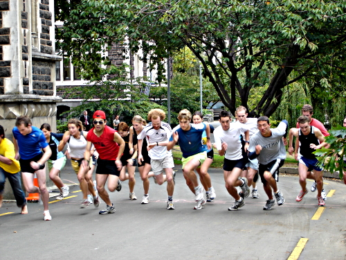 Clocktower Race, University of Otago