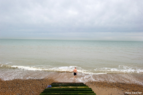 Taking the cold water plunge (Photo: David Tett)