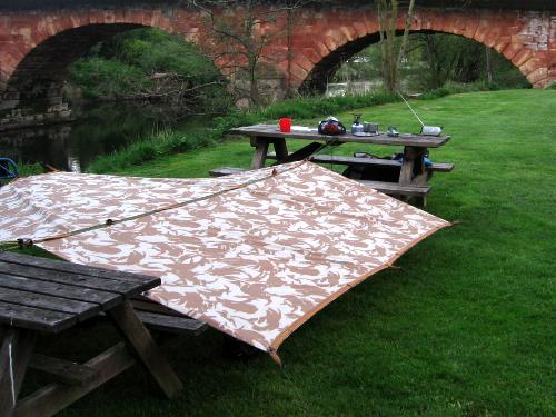 Picnic bench tarp