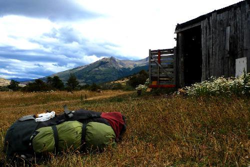 Rucksack in Torres del Paine, Chile