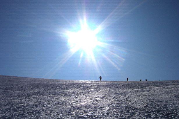 Ice cap in Arctic Norway