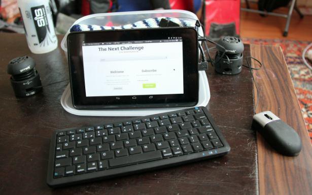 Tablet set up