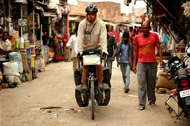 Cycling through India's crowded streets
