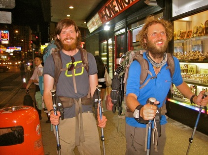 Leon McCarron (left) - Expedition Beard