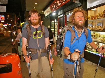 Leon McCarron (left) - Expedition Beard
