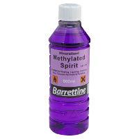 Alcohol (aka denatured alcohol, methylated spirit, meths, ethanol)