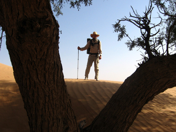 Posing in the Wahiba Sands