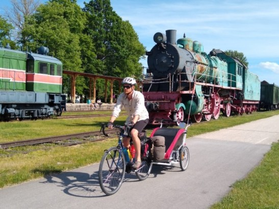 Cycling the Baltics and Aland Islands with a baby