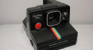 Classic Polaroid instant film camera