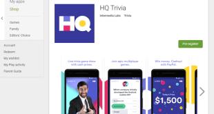 hq trivia app description in google play store