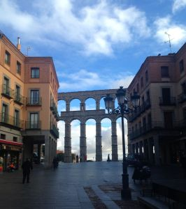 Segovia aqueduct, built by Romans in 1st or 2nd Century