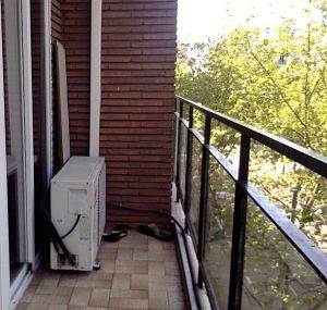 Balcony before. (Yes, I may have taken just about the worst, dingiest picture possible to make the after more dramatic).
