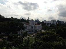 View from the top of Li Ka Shing Library where IFLAcamp was held