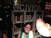 Of course there was a library by the pool for the cultural evening