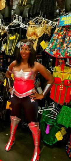 Instagram is Zeus Raymond 04, Facebook:https://www.facebook.com/Haitianwonderwoman/ Cosplay is special to me in 2016,because I feel like I can add diversity to the cosplay world plus I also love expressing my inner warrior princess.