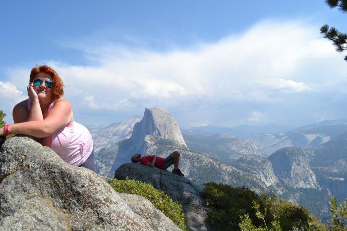 Noemí y David en el Parque Nacional de Yosemite