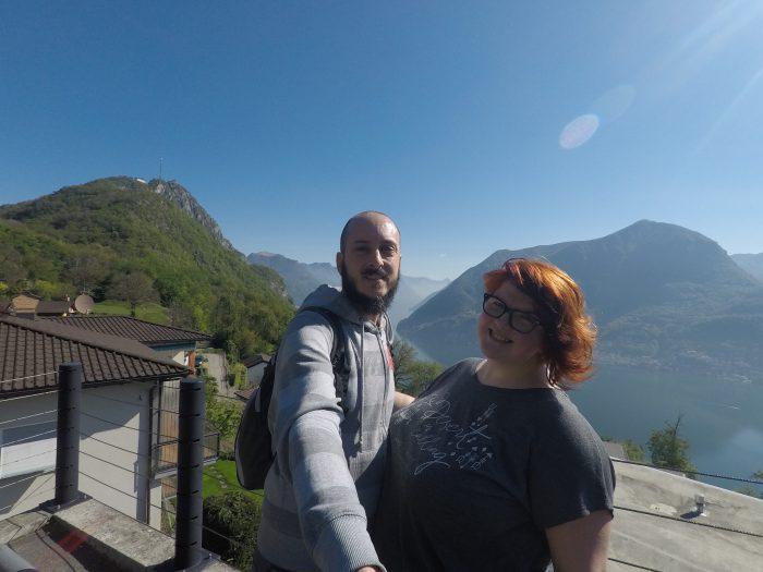Vistas desde el sendero de San Salvatore a Vico Morcote