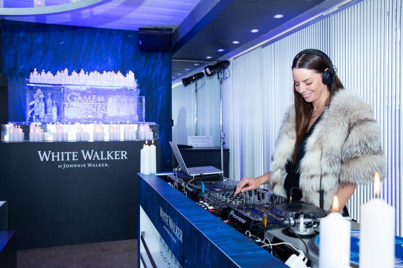 DJ Cassette spins tunes at White Walker by Johnnie Walker Launch_Bondi Icebergs_Wed 5 Dec_Credit Yasmin Mund
