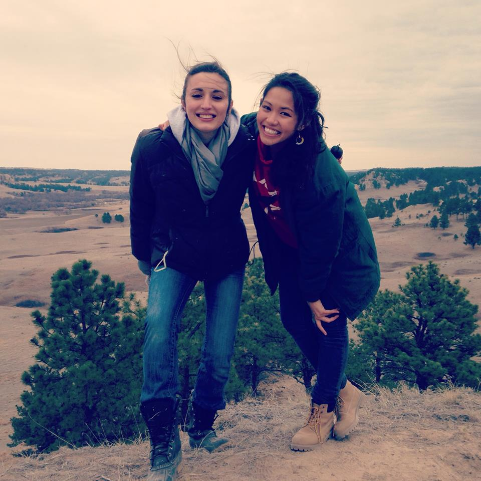 On my service-learning trip to the Pine Ridge Reservation with my Native American best friend