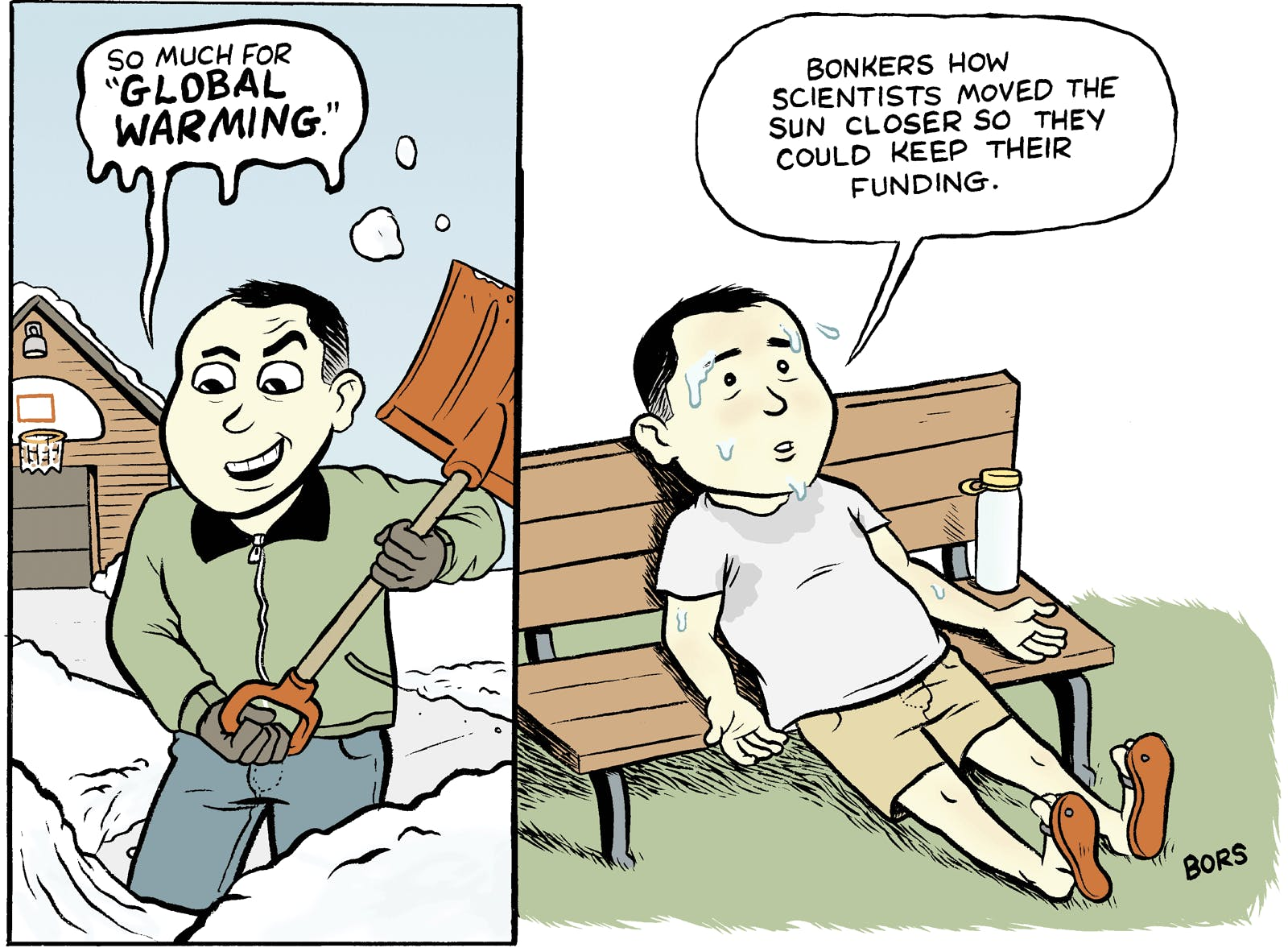 Sweaty Global Warming Denier The Nib