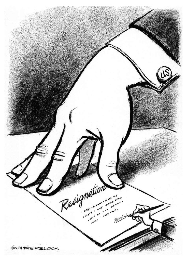 Herblock editorial cartoon on the impeachment of Richard Nixon.