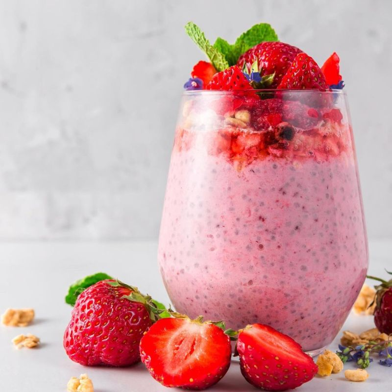 TheNibbleBox Chia Seed Pudding strawberry