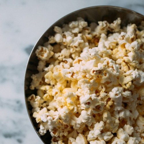 Cacao butter popcorn