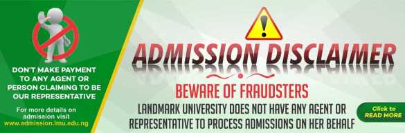 Job alert Landmark University Staff Recruitment 2021