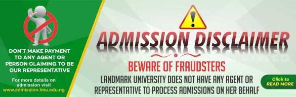 Job alert Landmark University Staff Recruitment 2021
