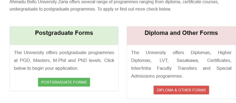 ABU Zaria PG School Application Forms 2021