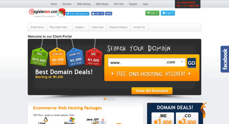 registeram - best web hosting companies in nigeria