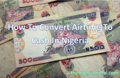convert airtime to cash in Nigeri