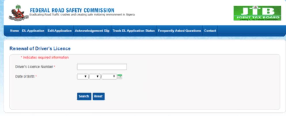 frsc drivers licence renewal