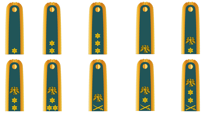 Nigerian Army Ranks - Commissioned Officers