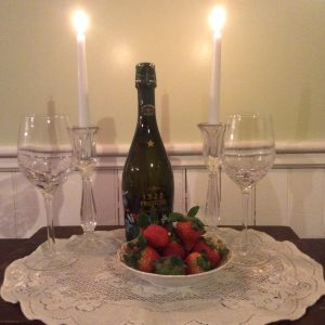 Nightfall Inn Anniversary Special package including champagne.